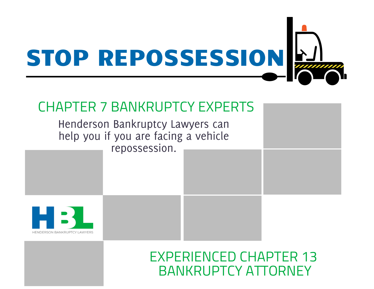 Stop Repossession. Henderson Bankruptcy Lawyers. Call.